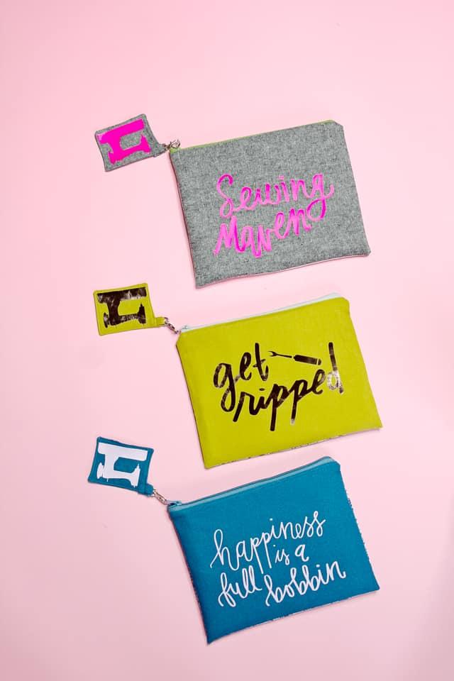 sewing themed zipper pouch tutorial   diy zipper pouch   how to sew a zipper pouch   easy sewing tutorials    See Kate Sew #zipperpouch #sewingtutorial
