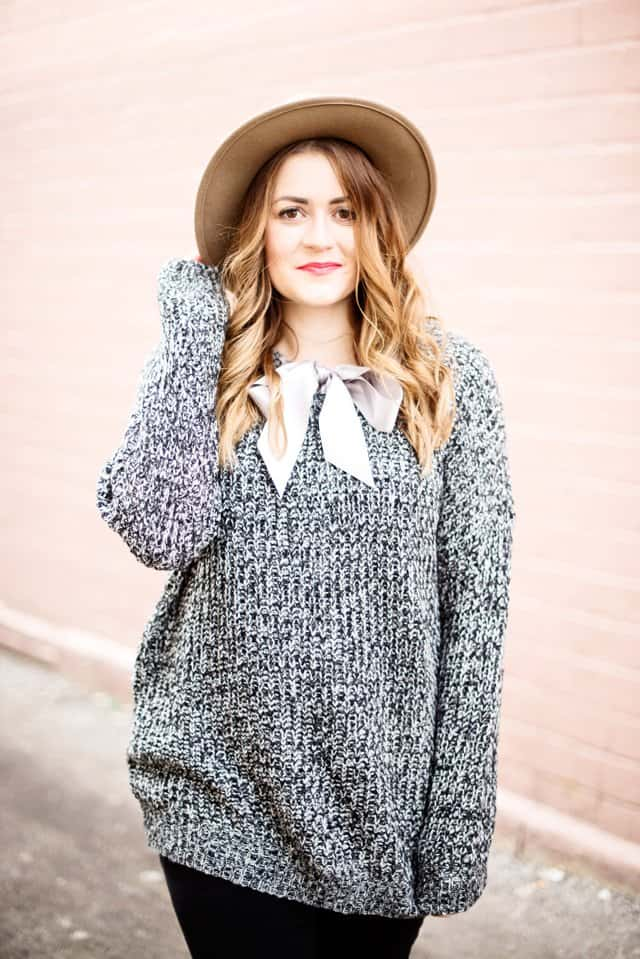 Ribbon Tie-Front Sweater Refashion | 5 Sweater Refashions for Beginners! | how to refashion a sweater | sweater refashion ideas | sewing tips and tricks | diy clothing tutorials || see Kate sew #sweaterrefashion #diyclothing #sewingtutorials