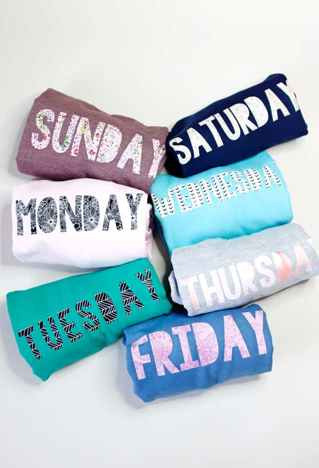 Days of the Week Shirts Tutorial | cricut tutorial | diy sweatshirt tutorial | cricut sweatshirt ideas || See Kate Sew #sweatshirt #cricut #diyshirt #cricuttutorial