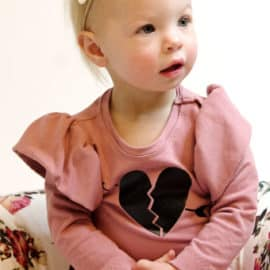 DIY Heart Onesie | See Kate Sew
