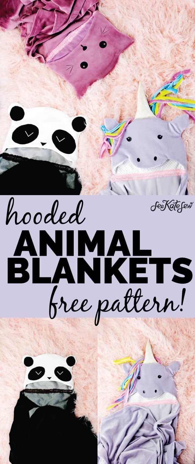 Hooded Blanket Tutorial 3 ways! | Hooded Blanket Tutorial 3 ways! | kid friendly hooded blanket | diy hooded blanket | free sewing tutorial | free blanket pattern | free sewing pattern || See Kate Sew #diy #sewing #tutorial #hoodedblanket #freepattern