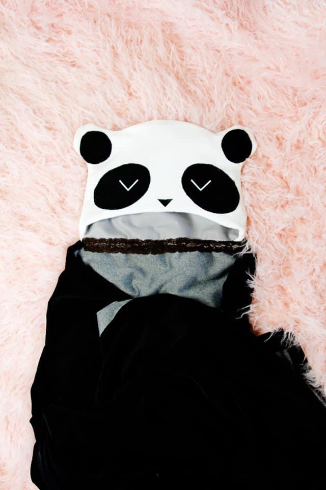 Panda Hooded Blanket Tutorial | Hooded Blanket Tutorial 3 ways! | kid friendly hooded blanket | diy hooded blanket | free sewing tutorial | free blanket pattern | free sewing pattern || See Kate Sew #diy #sewing #tutorial #hoodedblanket #freepattern