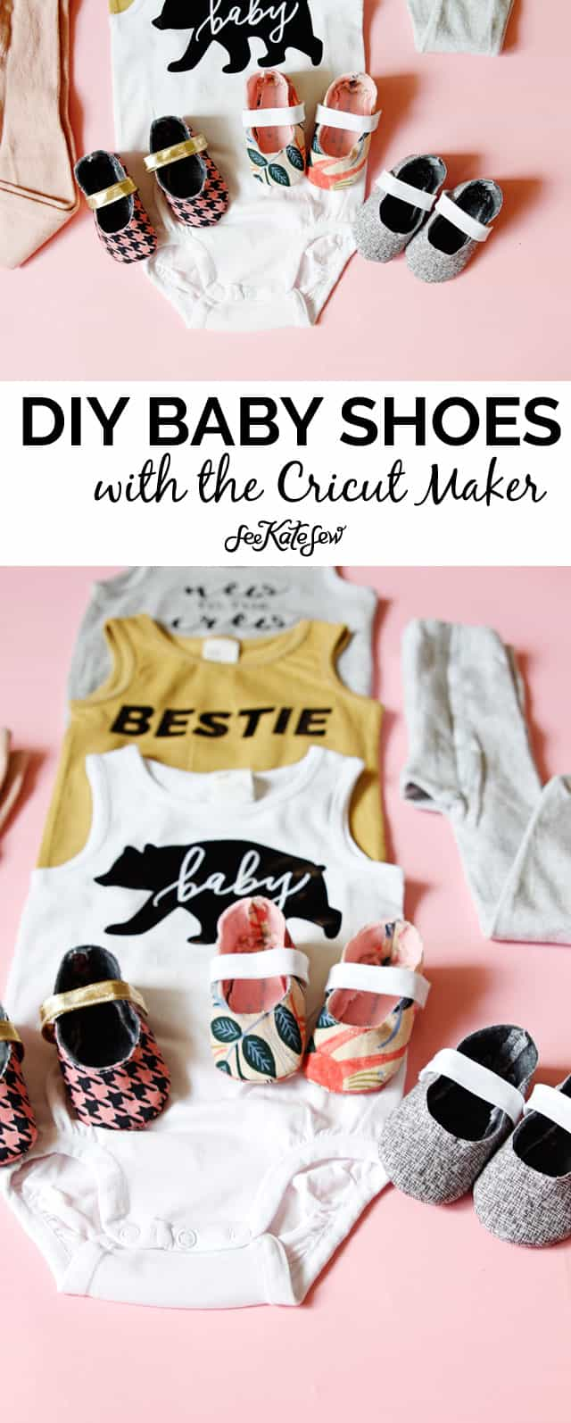 Baby Shoes Pattern with Cricut and Simplicity | diy baby shoes | diy baby clothing | baby clothing patterns | handmade baby clothes | cricut crafts || See Kate Sew #diy #patterns #babyshoes #diybaby #diybabyclothing #diybabyshoes #cricut #cricutdiy