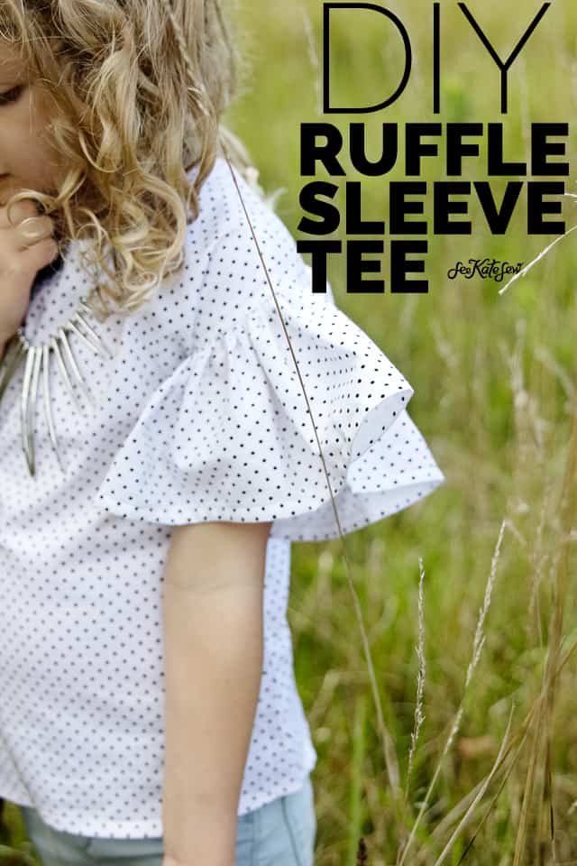 Zippy Top Hack | DIY Ruffle Sleeve Blouse | Pattern Hack | DIY ruffles | How to Add Ruffles to a Pattern | Ruffle Tutorial || See Kate Sew #diyrufflesleeveblouse # diyruffles #sewingtutorial #seekatesew