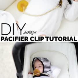 Leather Pacifier Clip Tutorial