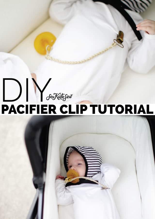Braided Leather Pacifier Clip Tutorial | diy baby items | diy pacifier clip || See Kate Sew #diy #diybaby #pacifierclip #seekatesew