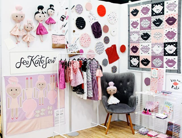 Kiss Me Kate Quilt Market Booth