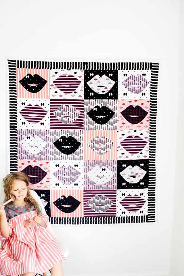 Lip Applique Quilt Pattern | Lip Quilt | How to Make a Lip Quilt | Kiss Me, Kate | Quilt Pattern| Lip Quilt Pattern | See Kate Sew #lipquilt #kissmekate #quiltpatterns #seekatesew