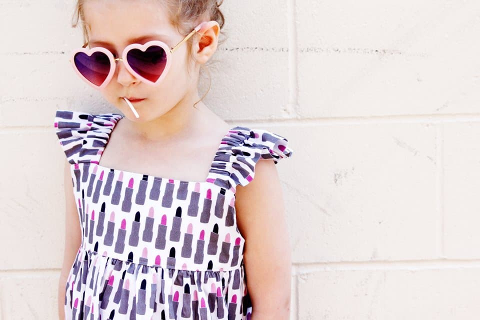 Girls Easy Summer Dress Pattern | Girls Dress Pattern, Easy Dress Pattern, Summer Dress Pattern, Girls Summer Dress, DIY Girls Dress #summerdresspattern #girlsdresspattern #girlssummerdress || See Kate Sew via @seekatesew