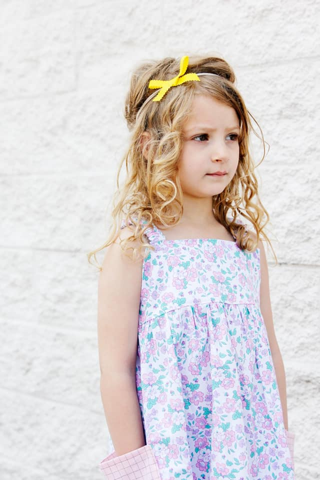 Summer Dress Sewing Pattern | Sleeveless Tank Sundress, DIY Sundress, Ultimate Sundress, Easy Tank Sundress, Easy Girls Sundress, Easy Summer Dress, DIY Kids clothes || See Kate Sew #easysummerdress #tankdress #diysundress #seekatesew