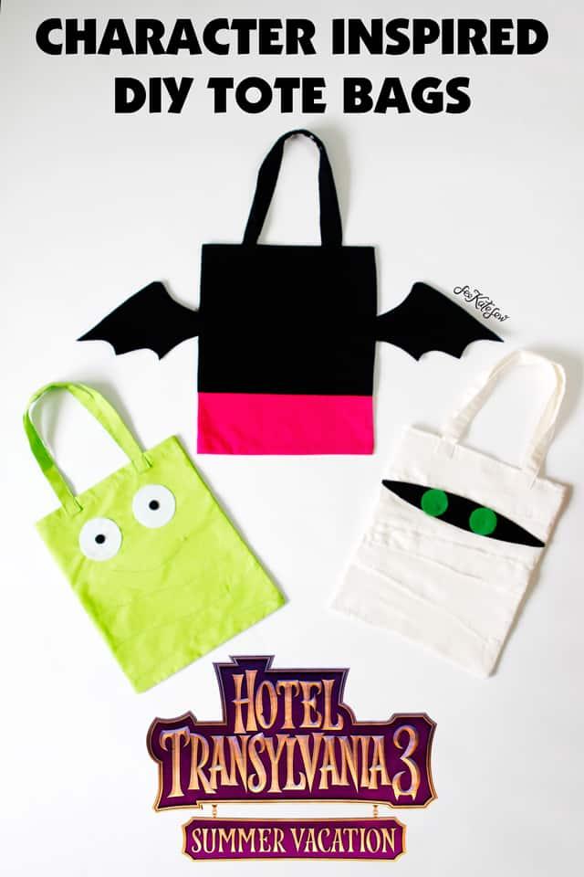 TOTE BAG TUTORIAL | Hotel Transylvania 3 | Tote Bag Pattern | Movie Inspired Tote Bag | Hotel Transylvania 3 Tote Bag | Movie Character Tote Bag | DIY Tote Bag | SEE KATE SEW #diytotebag #characterinspiredtotebag #hoteltransylvania3 #seekatesew