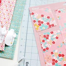 Cutting Fabric with Cricut + Riley Blake