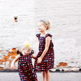 Easy Summer Girls Dress Sewing Pattern