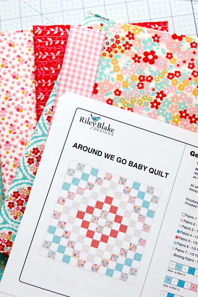 Quilting With Quilt Kits (part 1) | Riley Blake Quilt Kits | Baby Quilt with Cricut| Riley Blake Quilt | DIY Baby Quilt | Baby Quilts | Quilting with a Cricut | Quilting Kits || See Kate Sew #RileyBlake #QuiltingKits #Cricut #BabyQuilts #SeeKateSew