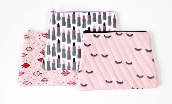 Quilted Cosmetic Case Kiss Me Kate