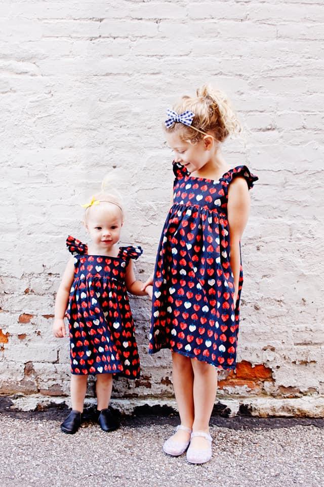 Easy Summer Girls Dress Sewing Pattern | Easy Summer Dresses | DIY Girls Dresses | DIY Summer Dresses | Easy Girls Dresses | DIY Kids Clothes | Easy Summer Dress Pattern || See Kate Sew #easysummerdresses #diygirlsdresses #easygirlsdresses #diykidsclothes #easysummerdress #seekatesew