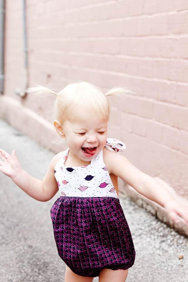 How to Sew a Baby Romper | Boho Baby Romper | DIY Baby Clothes | DIY Kids Clothes | Baby Romper | DIY Baby Romper | Boho Romper | Kiss Me, Kate Fabric || See Kate Sew #bohobabyromper #diybabyromper #diybabyclothes #bohoromper #kissmekatefabric #seekatesew