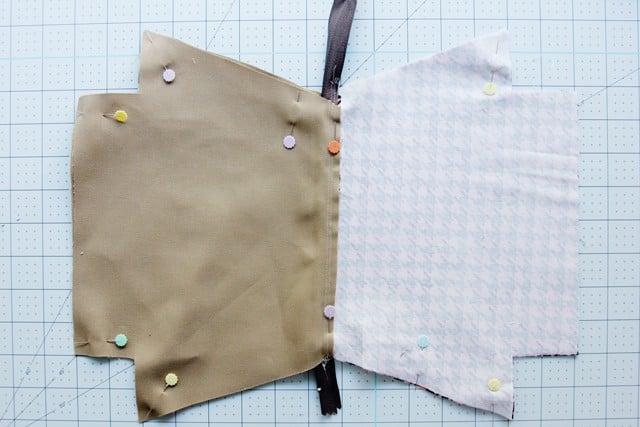 DIY zippered pouch tutorial flat bottom