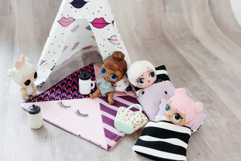DIY DOLL TENT TUTORIAL   DIY Mini Doll Tent   DIY Mini Doll Accessories   DIY Kids Toys   DIY LOL Doll Accessories   How to Make a Mini Doll Tent   Mini Doll Tent Pattern   Mini Doll Tent Tutorial   Sewing Tutorials    See Kate Sew #diyminitent #loldollaccessories #sewingpatterns #diykidstoys #kissmekatefabric #seekatesew
