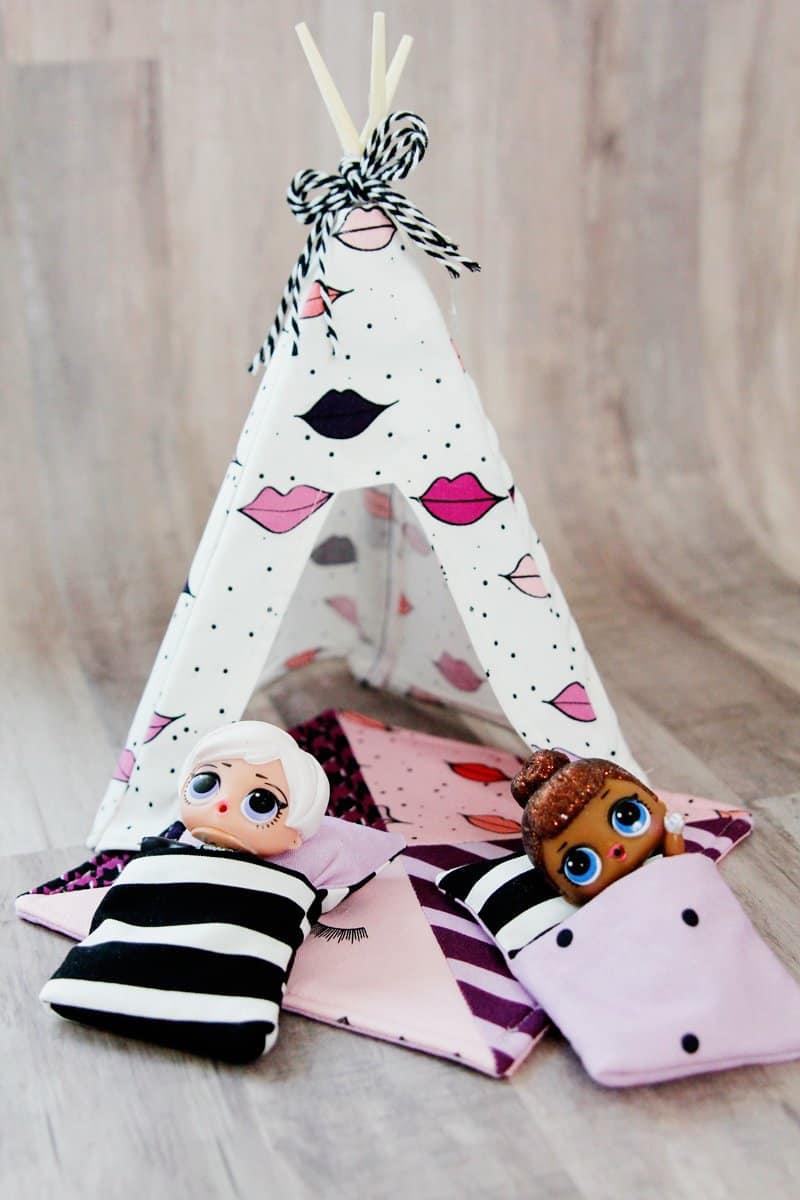 DIY DOLL TENT TUTORIAL   DIY Mini Doll Tent   DIY Mini Doll Accessories   DIY LOL TENT   DIY LOL Doll Accessories   How to Make a Mini Doll Tent   Mini Doll Tent Pattern   Mini Doll Tent Tutorial   Sewing Tutorials    See Kate Sew #diyminitent #loldollaccessories #sewingpatterns #diykidstoys #kissmekatefabric #seekatesew