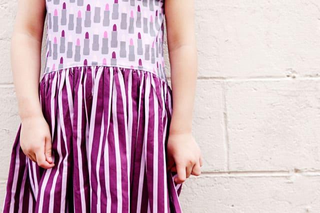 Lipstick Dress with the Zippy TopLipstick Dress Tutorial | Zippy Top Dress Pattern Hack | DIY Girls Dress | DIY Kids Clothes | DIY High-Low Hem Dress | Quick DIY Dress for Girls | One Hour DIY Dress for Girls | Girls Dress Tutorial | Dress Pattern Hack || See Kate Sew #diygirlsdress #sewingtutorial #zippytoppattern #sewinghacks #kissmekatefabric #seekatesew