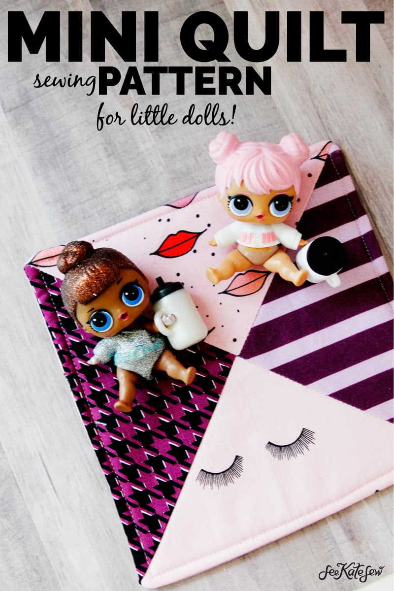 LOL Doll Quilt Tutorial   DIY Doll Quilt Tutorial   DIY Mini Doll Quilt   DIY Mini Doll Accessories   DIY Kids Toys   DIY LOL Doll Accessories   How to Make a Mini Doll Quilt   Mini Doll Quilt Tutorial   Sewing Tutorials    See Kate Sew #diyminidollquilt #diylolaccessories #dollaccessories #sewingtutorials #seekatesew