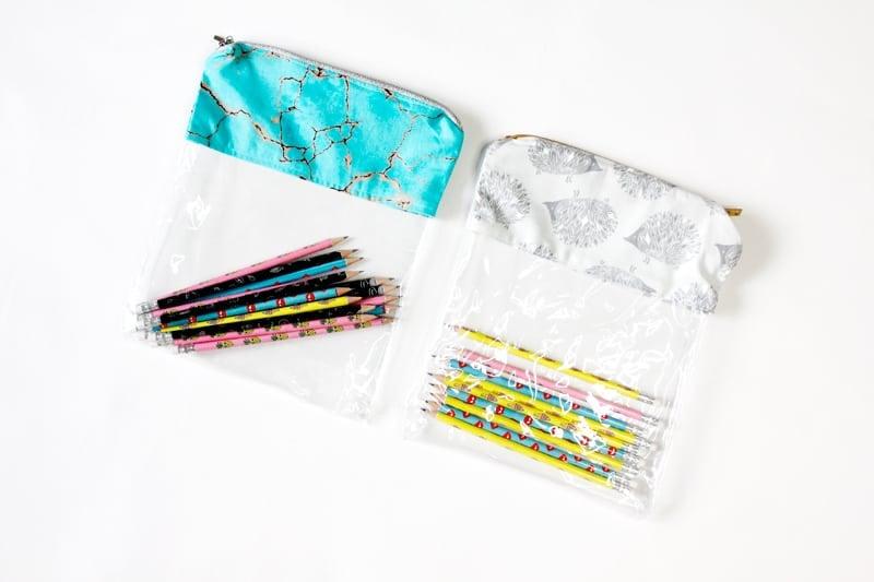 How to make a diy pencil case | DIY Pencil Pouch | DIY Back to School | DIY School Supplies | Vinyl Pencil Pouch | How to Sew a Pencil Pouch | DIY Pencil Case | DIY Clear Vinyl Pencil Pouch | Things to Make with Vinyl || See Kate Sew #diybacktoschool #diypencilpouch #diyschoolsupplies #thingstomakewithvinyl #diypencilcase #seekatesew