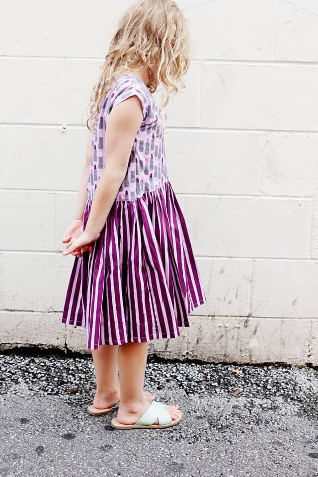 Lipstick Dress Tutorial | Zippy Top Dress Pattern Hack | DIY Girls Dress | DIY Kids Clothes | DIY High-Low Hem Dress | Quick DIY Dress for Girls | One Hour DIY Dress for Girls | Girls Dress Tutorial | Dress Pattern Hack || See Kate Sew #diygirlsdress #sewingtutorial #zippytoppattern #sewinghacks #kissmekatefabric #seekatesew