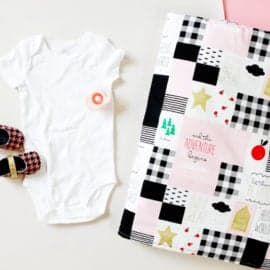 How to Make a Baby Blanket with 2 yards of fabric!