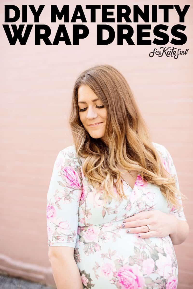 DIY Maternity Wrap Dress | DIY Maternity | DIY Maternity Dress | DIY Maxi Dress | DIY Wrap Dress | Penelope Peplum Hack | Sewing Pattern Hack | Maternity Sewing Tutorial | How to Sew a Maternity Wrap Dress || See Kate Sew #diymaternitydress #diymaternitywrapdress #diywrapdress #sewingtutorial #seekatesew
