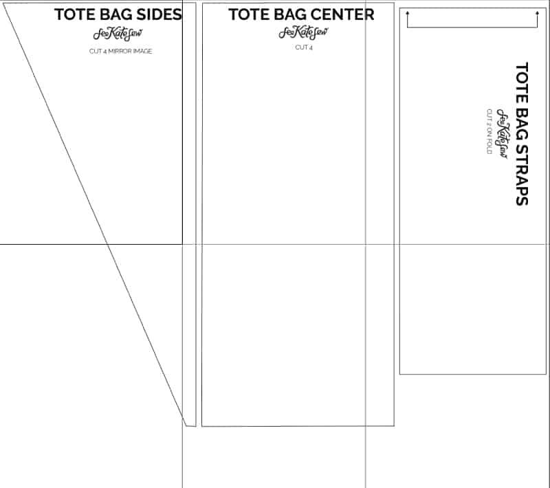 Tote Bag Pattern Tutorial