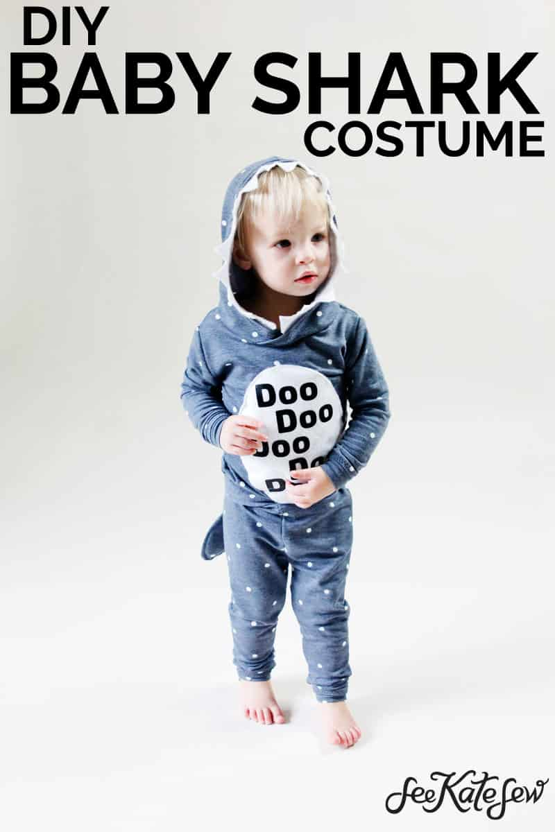 Baby Shark Costume DIY | Baby Shark | DIY Halloween Costume | DIY Baby Shark | DIY Costume | How To Sew A Costume | Baby Shark Costume || See Kate Sew #babyshark #diybabyshark #halloween #halloweencostume #seekatesew