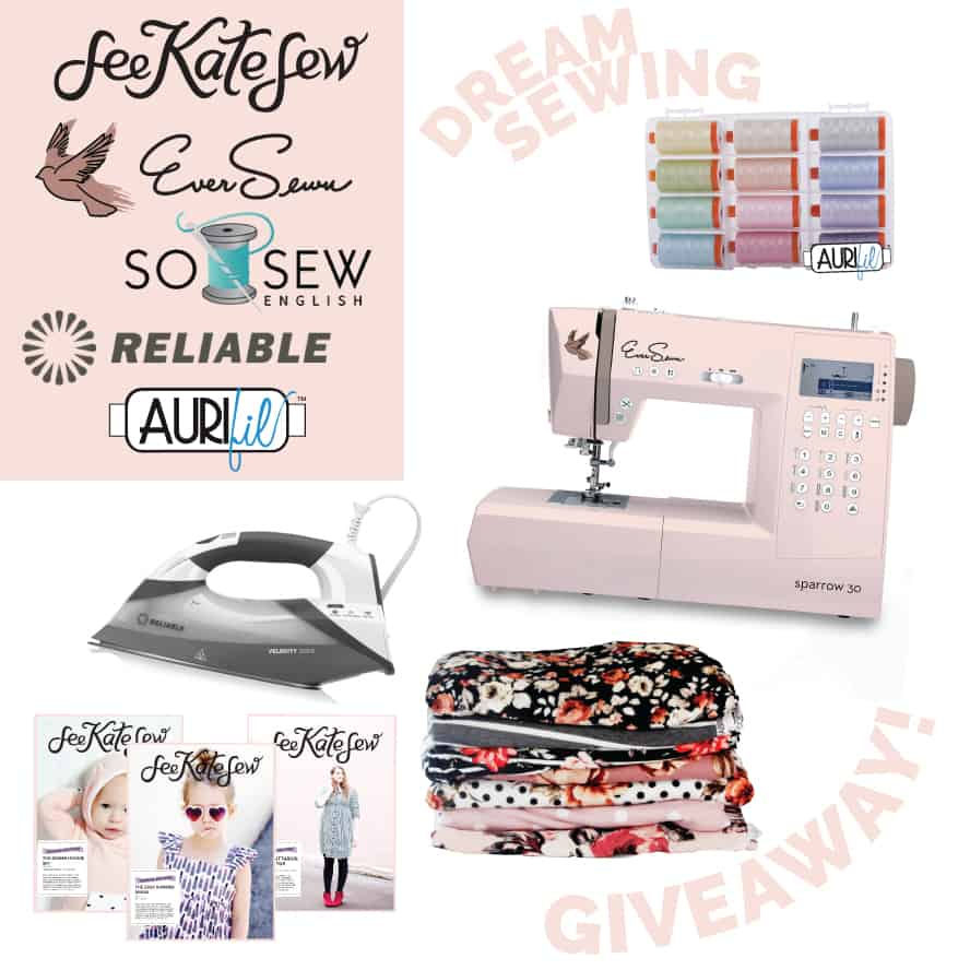 Huge Sewing Giveaway | Sewing Giveaway | Fall Giveaway | Sewing tools Giveaway | Pattern Giveaway | Giveaway| Ever Sewn | So Sew English | Reliable | Aurifil || See Kate Sew #giveaway #seekatesew
