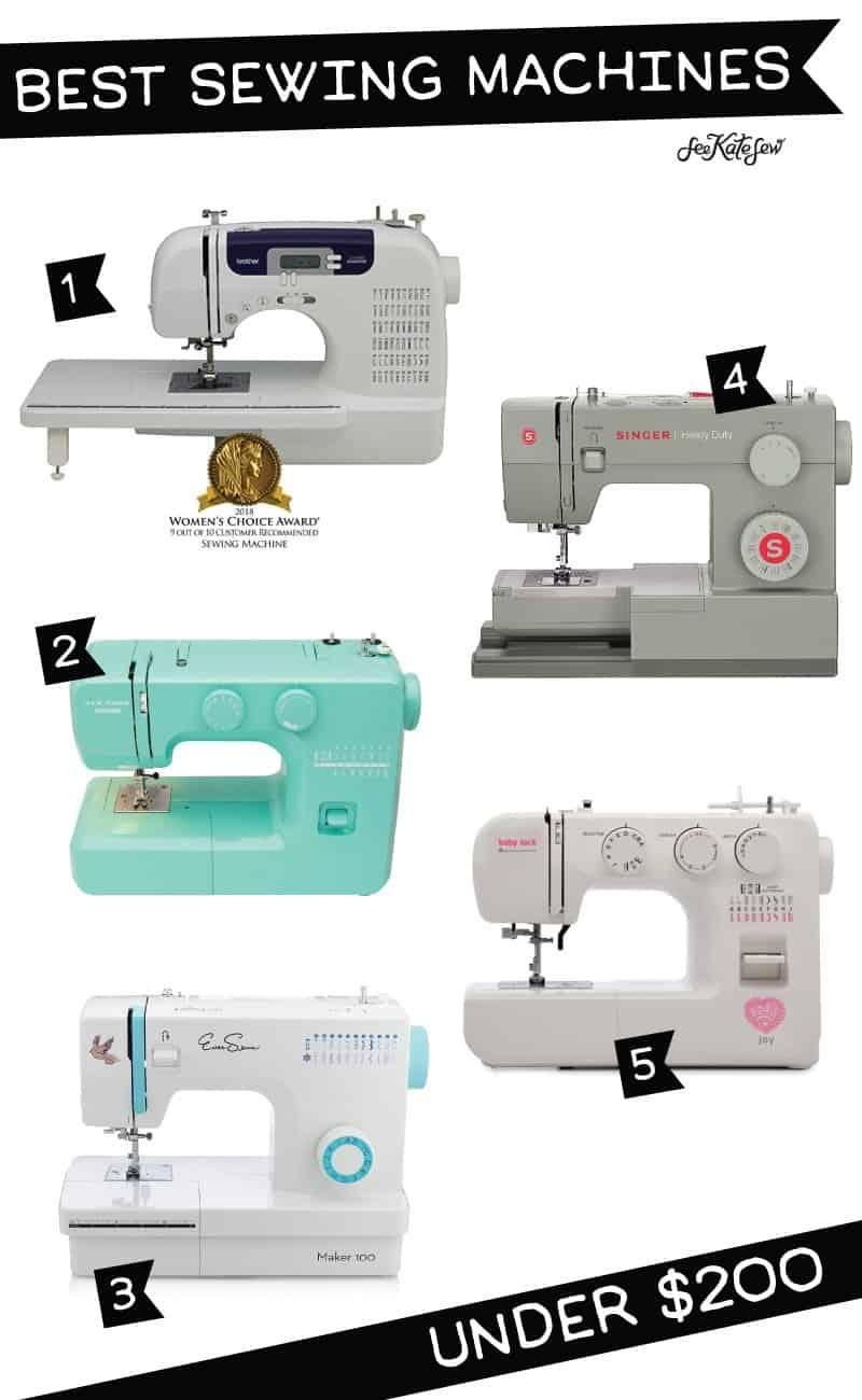 Best Sewing Machine under $200 | Best Sewing Machines | Starter Sewing Machines | Finding the Right Sewing Machine | How to Choose the Right Sewing Machine | Sewing Machines Under $200 | Sewing Machine Review || See Kate Sew #sewingmachines #seekatesew