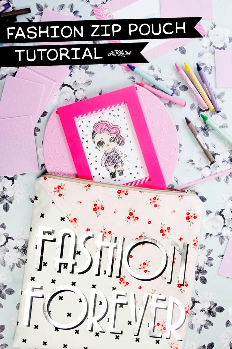 Fashion Zip Pouch Tutorial | Zip Pouch Tutorial | Sewing Tutorial | DIY Gift Idea | DIY Zip Pouch | DIY Pouch || See Kate Sew #sewingtutorial #seekatesew