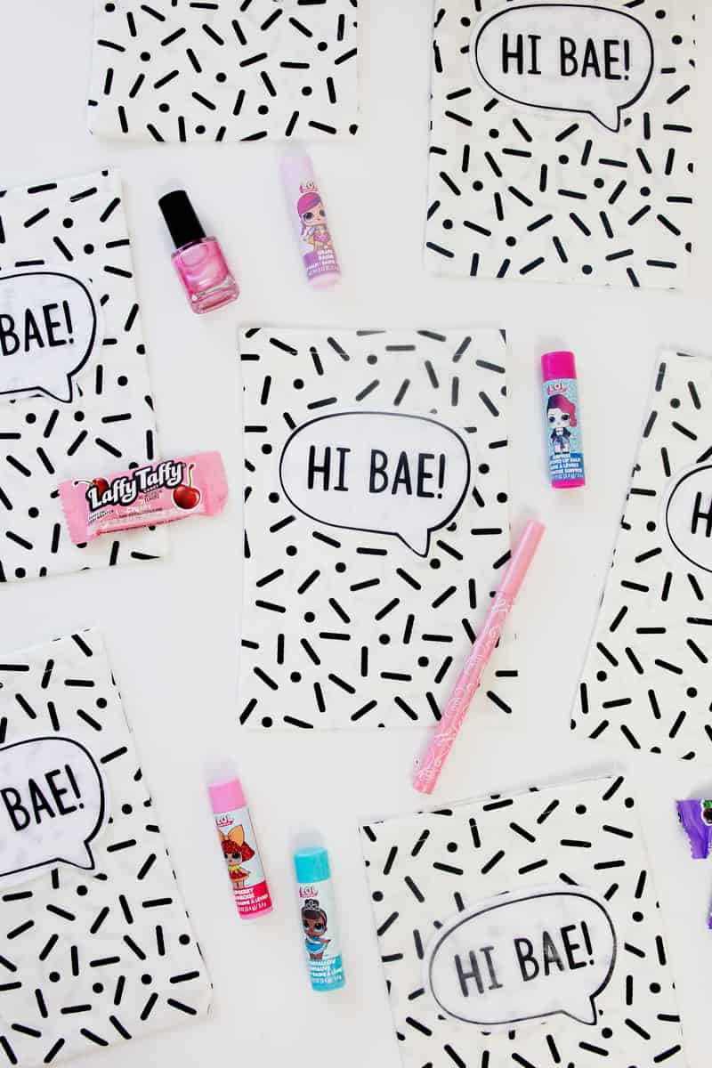 Hi Bae! // How to Make Fabric Party Favor Bags || LOL Party Favor Bags | DIY Party Favor Bags | Fabric Party Favor Bags | Party Bags | Quick Party Favor Bags | No Sew Fabric Party Favor Bags || See Kate Sew #partyfavors #LOLparty #seekatesew