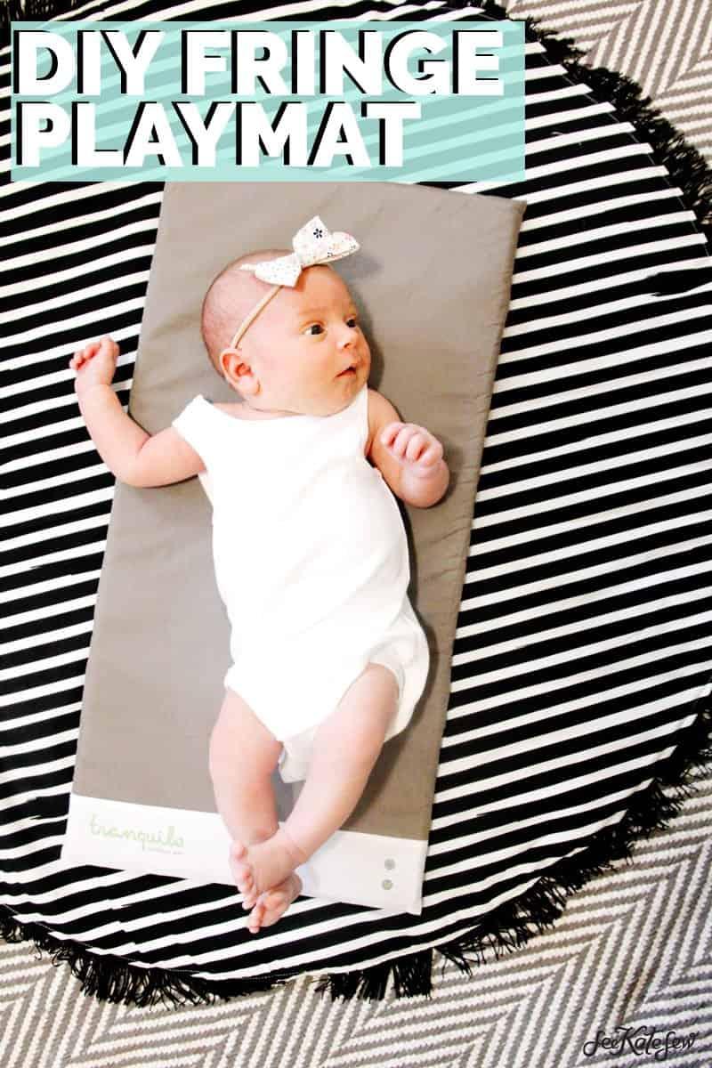 DIY Circle Playmat With Fringe!   DIY Playmat   DIY Playmat with Fringe   DIY Circle Playmat   DIY Baby Gear    See Kate Sew #diybaby #playmat #seekatesew