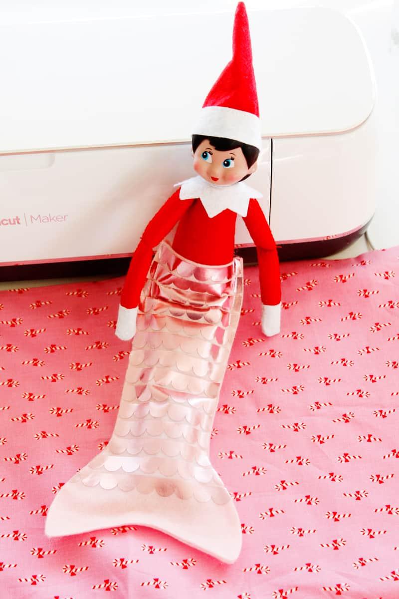 Elf on the Shelf Mermaid Tail Pattern | Elf on the Shelf Accessories | Mermaid Tails | DIY Elf on the Shelf Accessories | Free Mermaid Tail Pattern || See Kate Sew #mermaidtail #elfontheshelf #seekatesew