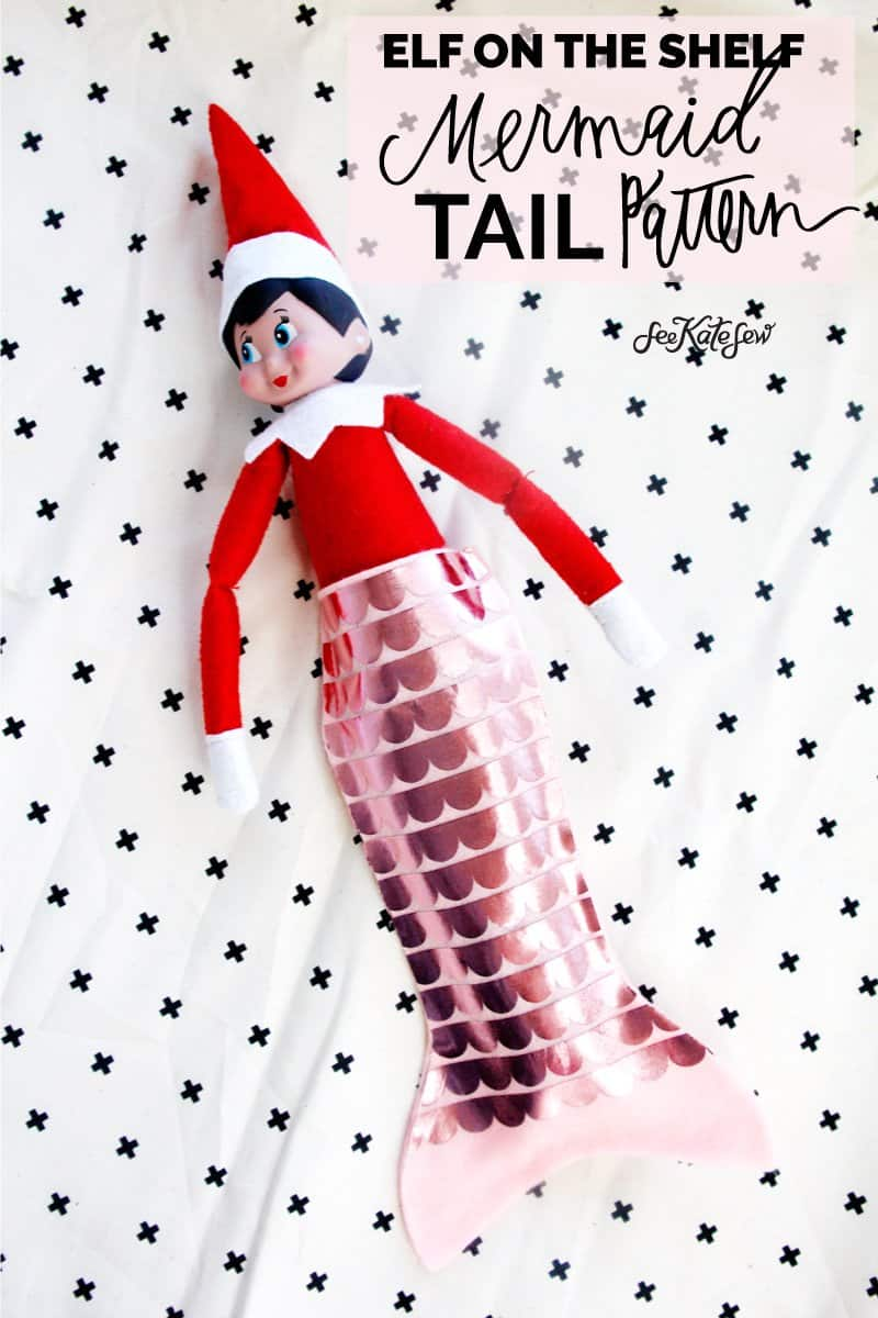 Elf on the Shelf Mermaid Tail Pattern