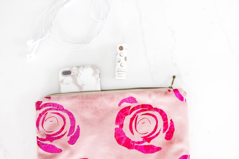 Velvet Zipper Pouch | DIY Pouch | DIY Velvet Pouch | DIY Clutch | Sewing With Velvet | DIY Zipper Pouch | Rose SVG | Sewing Tutorial || See Kate Sew #zipperpouch #sewingtutorial #seekatesew