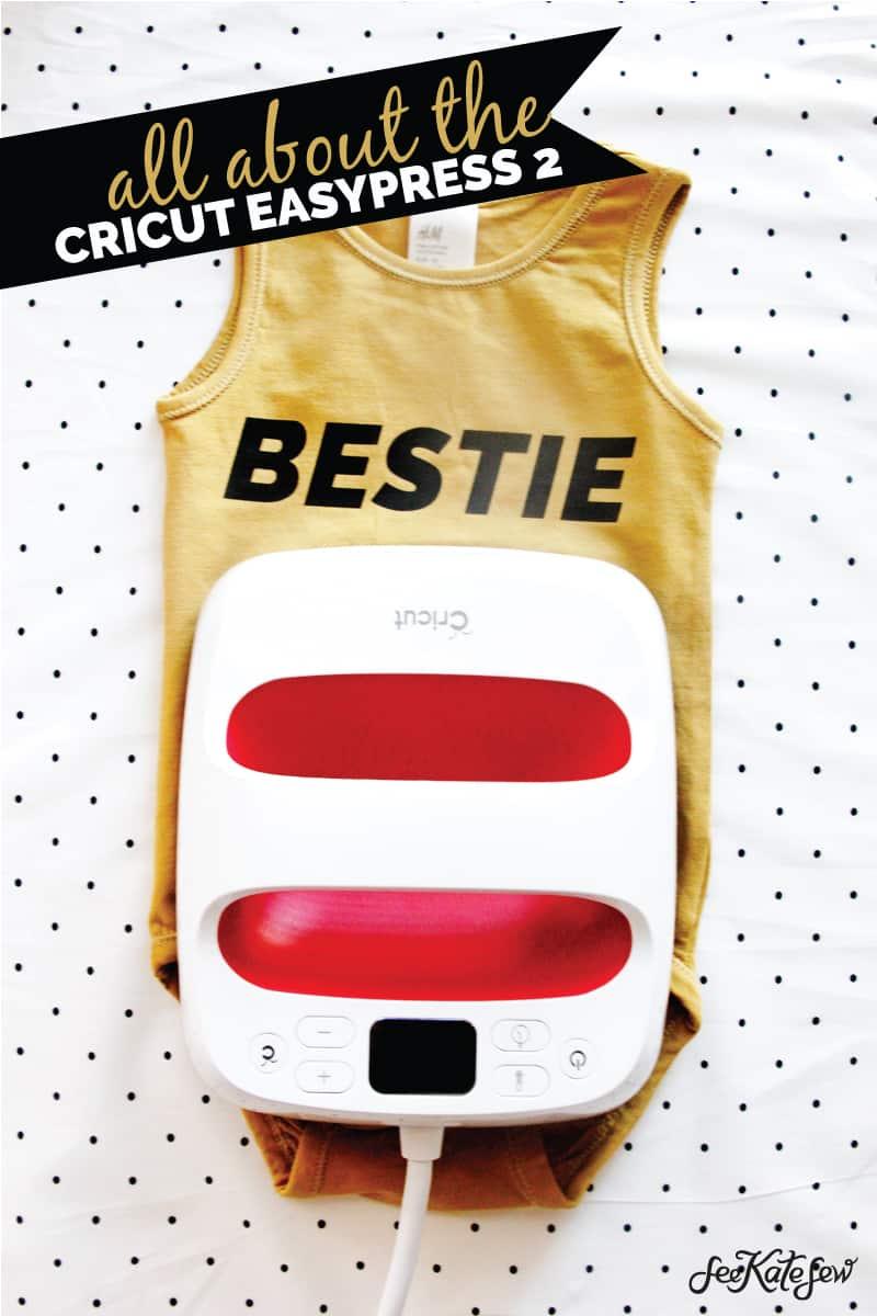 All About the Cricut EasyPress 2 | Cricut EasyPress 2 | Sewing Room Staples | FAQ about the Cricut EasyPress 2 | How to Use the Cricut EasyPress 2 | Iron-On Project Ideas || See Kate Sew #cricut #easypress2 #seekatesew