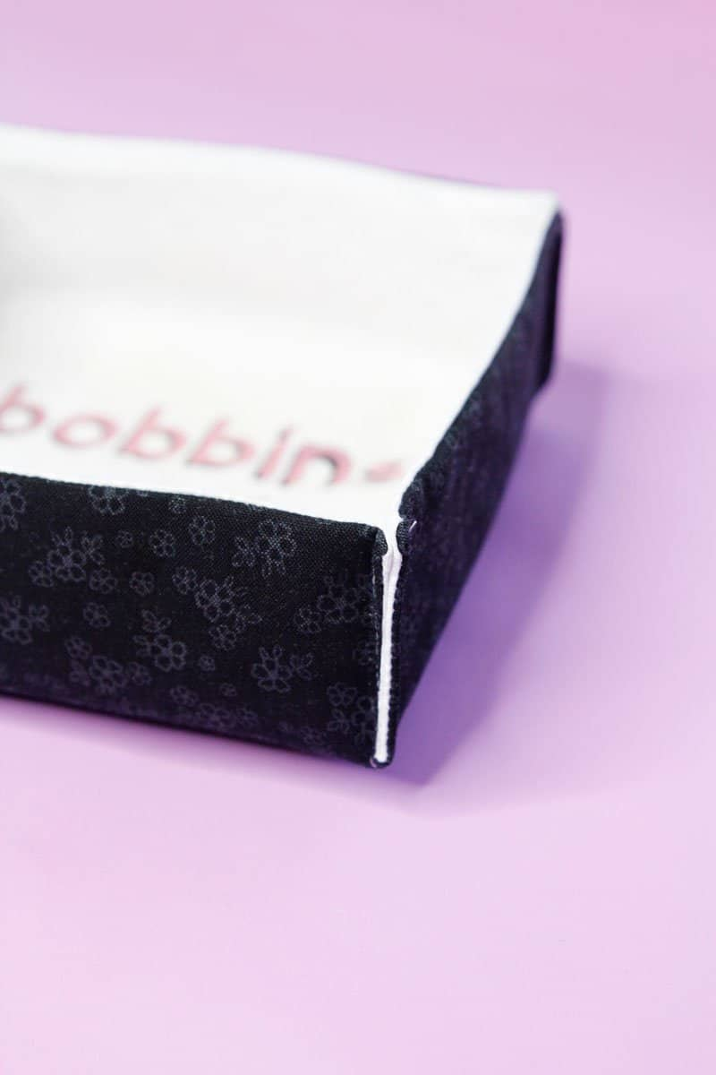 DIY Cheeky Fabric Boxes | DIY Fabric Boxes | DIY Shallow Boxes | Sewing Room Organization Tips | Cricut Projects || See Kate Sew #cricut #organization #seekatesew