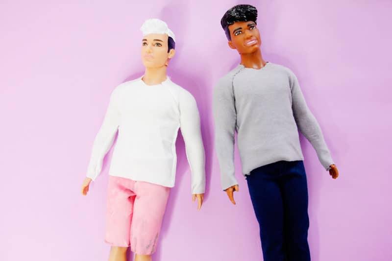DIY Doll Raglan | DIY Kids Toys | DIY Barbie Clothes | DIY Ken Doll Clothes | Free Doll Clothes Pattern | Free Ken Doll Clothes Pattern | Free Barbie Doll Clothes Pattern | How to Make Ken Doll Clothes | How to Make Barbie Doll Clothes || See Kate Sew #sewingtutorial #freepattern #seekatesew