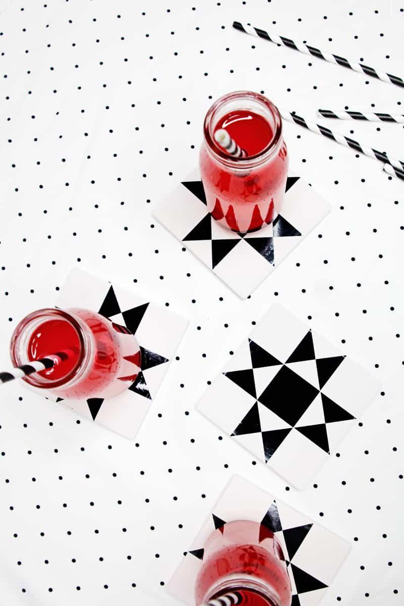 Quilty Coasters Tutorial | DIY Coasters | Diy Coaster Tutorial | Quilt Block Coasters | Ohio Star Coaster Tutorial | DIY Ohio Star Coasters | Free SVG | Ohio Star SVG || See Kate Sew #cricut #coasters #seekatesew