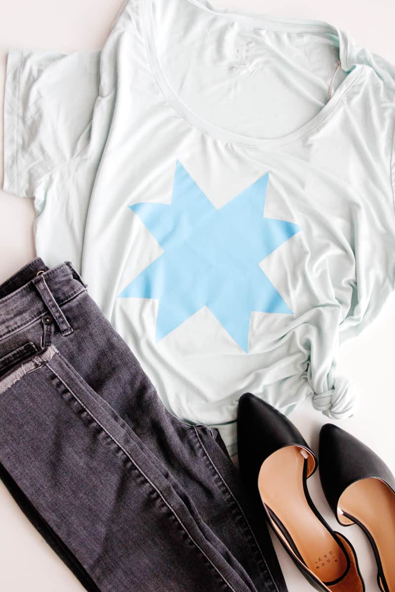DIY Ohio Star Tee | Free Ohio Star SVG | Ohio Star Tee | DIY Tee | DIY Shirt | Ohio Star Design using Cricut EasyPress 2 | See Kate Sew #cricut #easypress2 #seekatesew