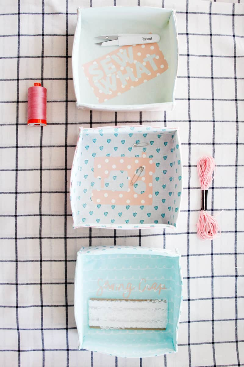Fabric Boxes Diy With Free Pdf Pattern See Kate Sew