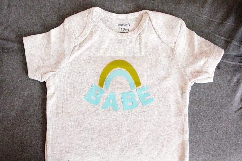 Rainbow Baby Onesie SVG file