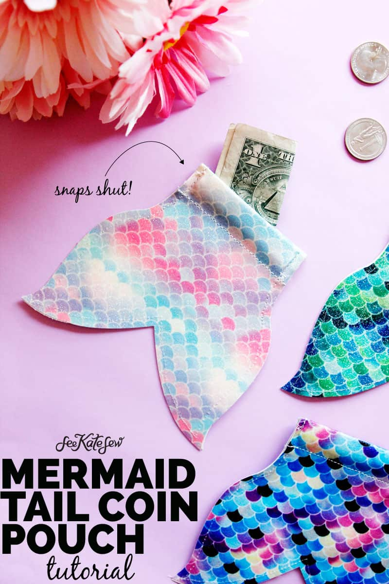 DIY Mermaid Snap Coin Pouch