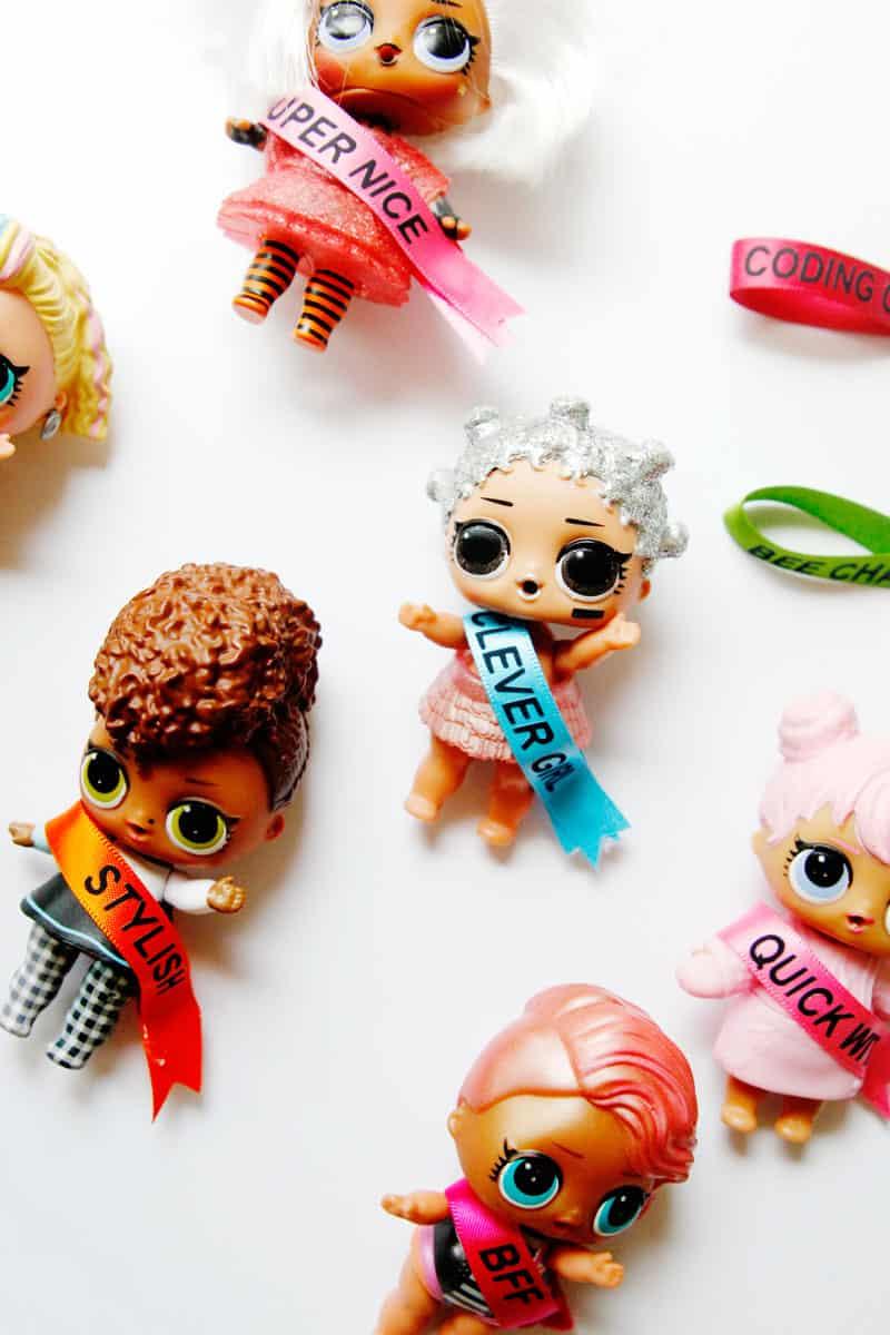 lol surprise crafts - DIY ribbon sash