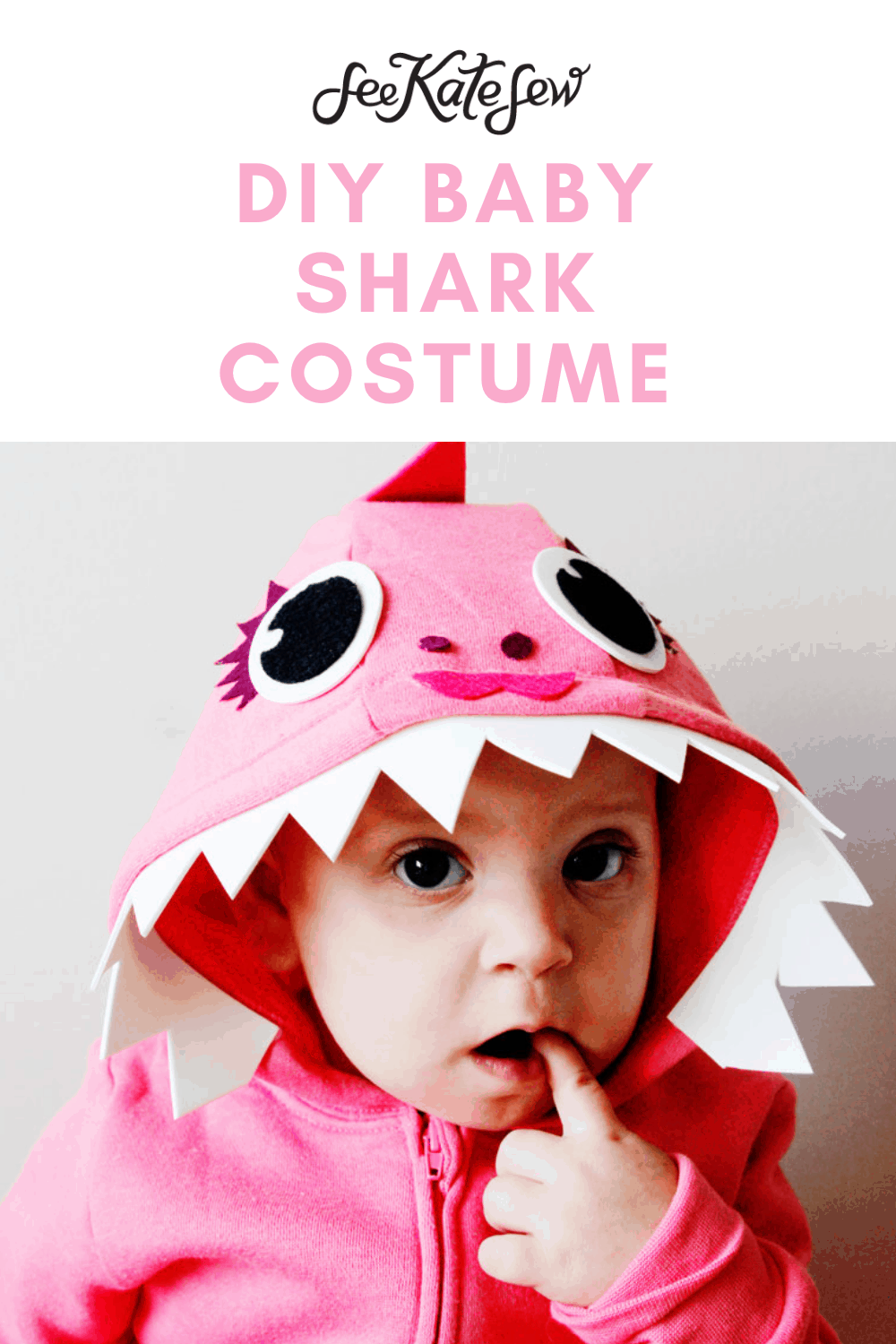 Pink Fong Inspired Baby Shark Costume